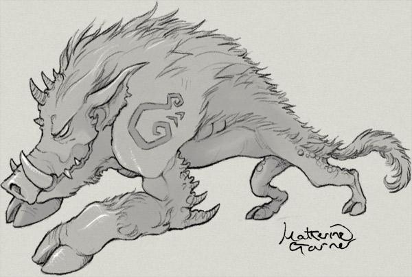 wild boar monster by Katherine Garner