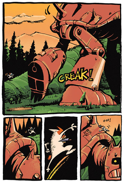 GEAR comic book colour for Doug TenNapel