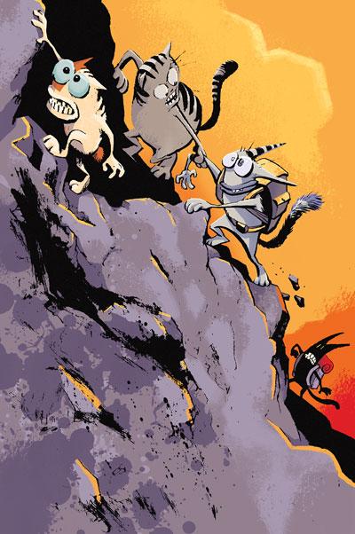 GEAR comic book colour for Doug TenNapel