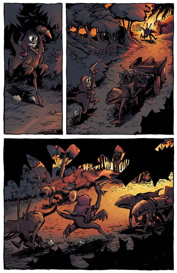 Nnewts book 1 colour work for Doug TenNapel
