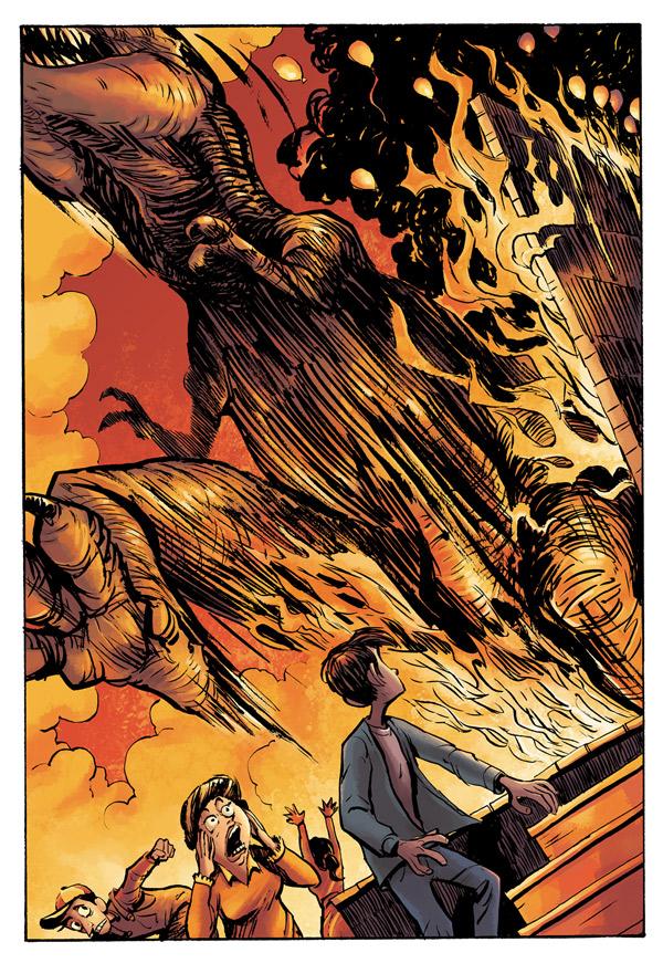 Tommysaurus Rex colour work for Doug TenNapel