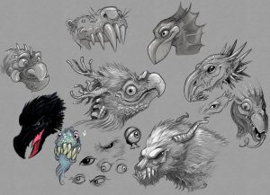 random monster faces