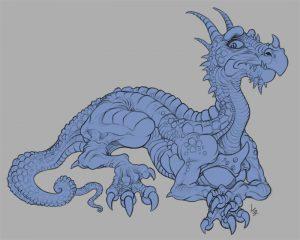 Sad dragon flatted