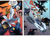 Earthworm Jim Comic fighting crow people